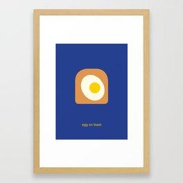egg on toast Framed Art Print