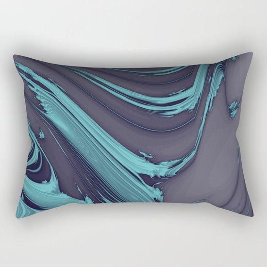 The Blues Abstract Rectangular Pillow