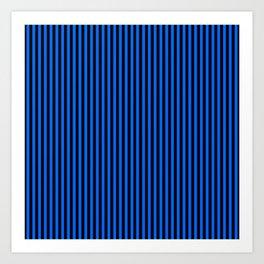 Striped black and blue background Art Print