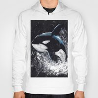 orca Hoodies featuring Orca by Kelly Katastrophe