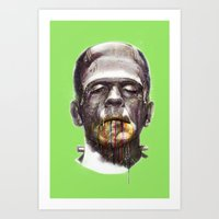 frankenstein Art Prints featuring Frankenstein by beart24