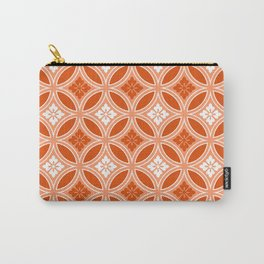 Shippo with Flower Motif, Mandarin Orange Carry-All Pouch