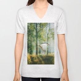 Magical Forests Impressionism Unisex V-Neck