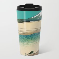 Tama River and Mount Fuji Metal Travel Mug