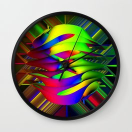 Einstein's Rainbow Wall Clock