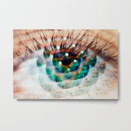 Green Eyes Hypnotize Metal Print