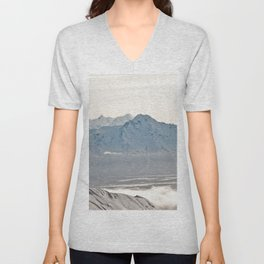 Talkeetna Mountains and Twin Peaks Unisex V-Neck