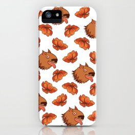 Pups and poppies iPhone Case