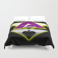 asexual Duvet Covers featuring Ace by drQuill