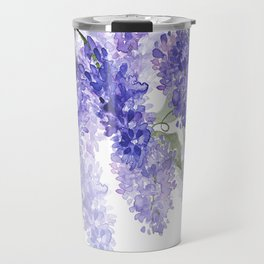 Purple Wisteria Flowers Travel Mug