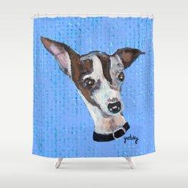 Mia the Italian Greyhound Dog Shower Curtain