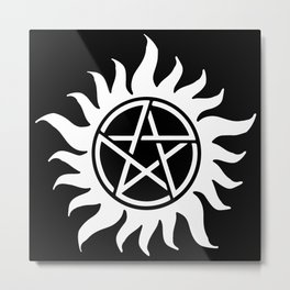 Anti Possession Sigil White Metal Print