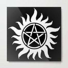 Anti Possession Sigil White Metal Print