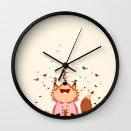 S'amuser avec les oiseaux Wall Clock