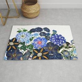 Vintage & Shabby Chic - Blue Flower Summer Meadow Rug