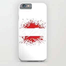 Ski Jumper Austria AT Winter Sports Flag Splash iPhone Case