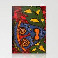 tiki Stationery Cards featuring Tiki by Shaylah Lukas Art
