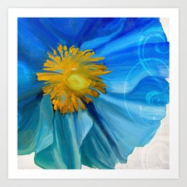 Poppy Blues II Art Print