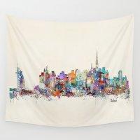 arab Wall Tapestries featuring Dubai skyline by bri.buckley