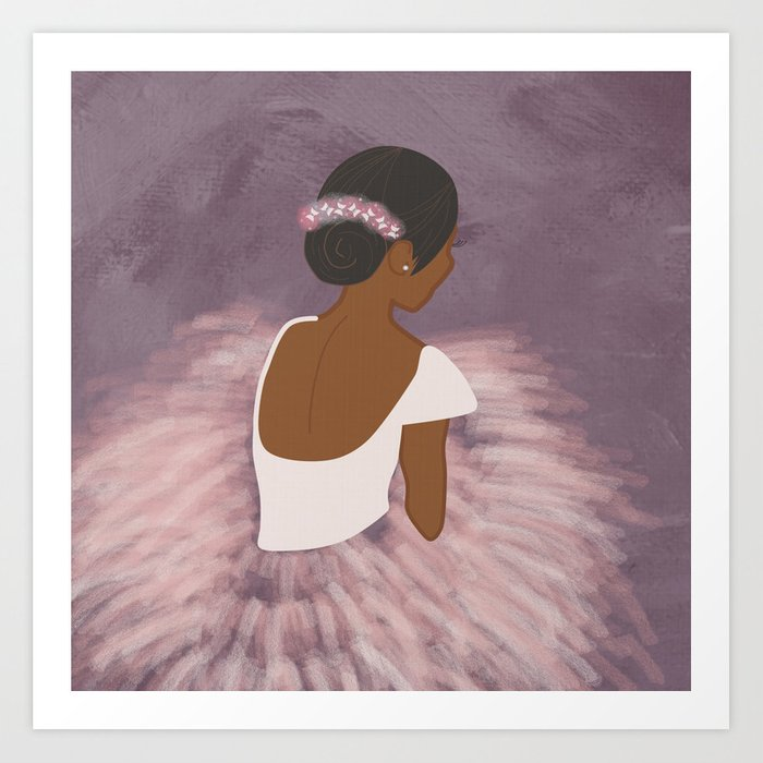 Ballerina Dancer  Art Print
