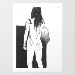 bag girl Art Print