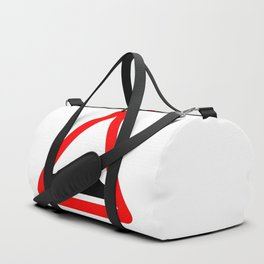 Uneven Road Traffic Sign Isolated Duffle Bag