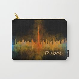 Dubai, emirates, City Cityscape Skyline watercolor art v4 Carry-All Pouch