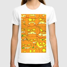 Halloween Pumpkins Pattern T-shirt