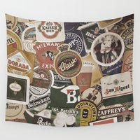 beer Wall Tapestries featuring Beer by Nicklas Gustafsson