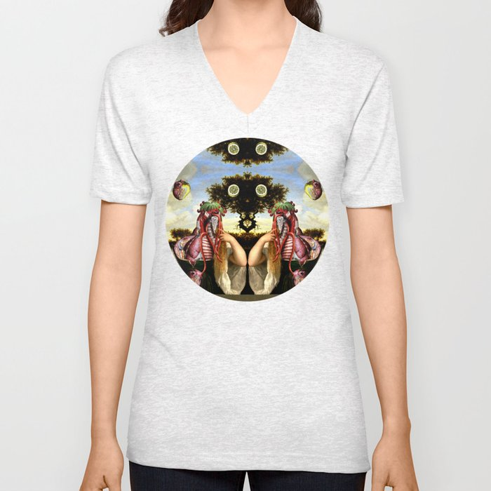 ACID HEART Unisex V-Neck