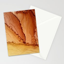 Fire - Alcohol Ink Yupo Stationery Cards