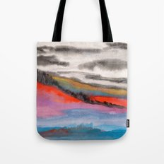 Watercolor abstract landscape 05 Tote Bag