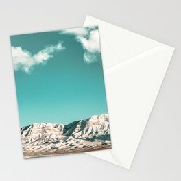 Vintage Desert Snowcaps // Sandy Mojave Covered in Snow at Red Rock Canyon National Park Nature Stationery Cards