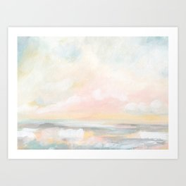 Rebirth - Pastel Ocean Seascape Art Print