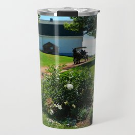 Horse Drawn Carriage on Farm in PEI Travel Mug