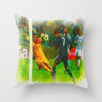 ronaldo Throw Pillows featuring Cristiano Ronaldo - Job Done by Don Kuing