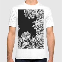 FLOWERS IN BLACK AND WHITE T-shirt