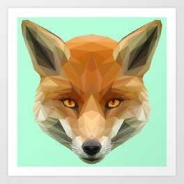 Poly the Fox Art Print