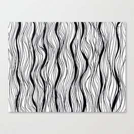 BLACK STRIPES Canvas Print