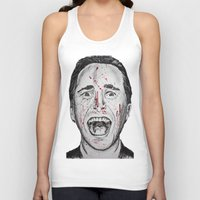 american psycho Tank Tops featuring American Psycho by Haley Erin