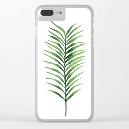 Palm branch. Clear iPhone Case