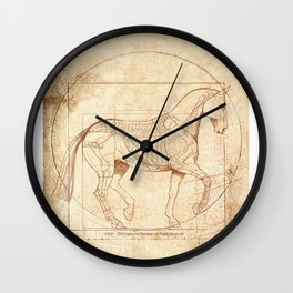 Da Vinci Horse In Piaffe Wall Clock