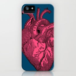 hot pink heart iPhone Case