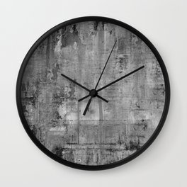GREY MODERN INDUSTRIAL RUSTIC Wall Clock