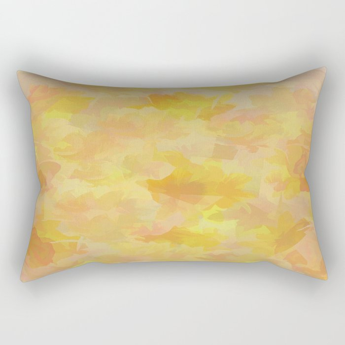 Floating Flowers Painterly Abstract Rectangular Pillow
