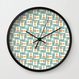 Starry little rectangles Wall Clock