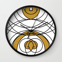 Dancing Lines (Gold) Wall Clock