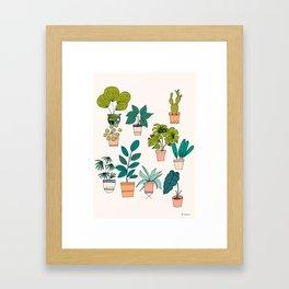 House Plants illustration Framed Art Print