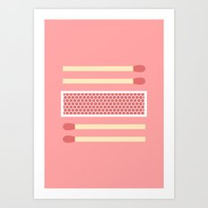 #75 Matches Art Print