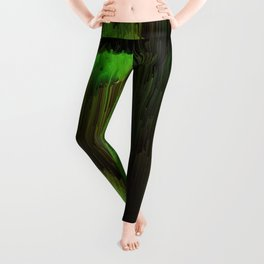 Ectoplasm - Abstract Glitchy Pixel Art Leggings